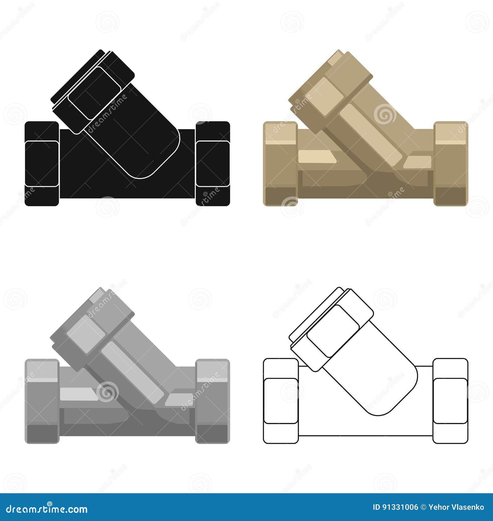 Tee cone apropriado do encanamento no estilo dos desenhos animados cone apropriado do encanamento do t no projeto dos desenhos animados no fundo branco ilustrao do vetor do estoque do smbolo do sistema da filtragem da ccuart Gallery