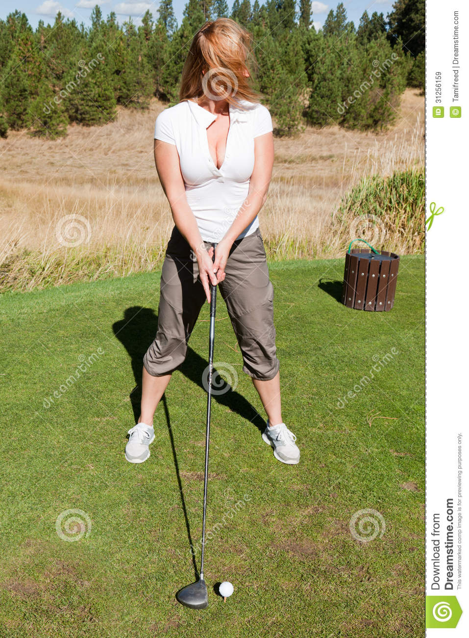 Tee Off With Cleavage Royalty Free Stock Images - Image ... Golf Ball On Tee Clipart