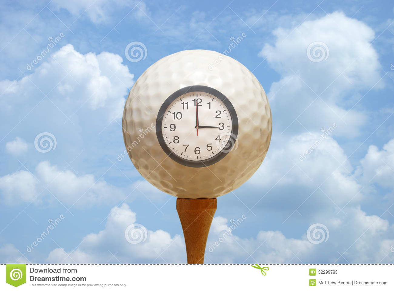 Tee Time Stock Photos Image 32299783