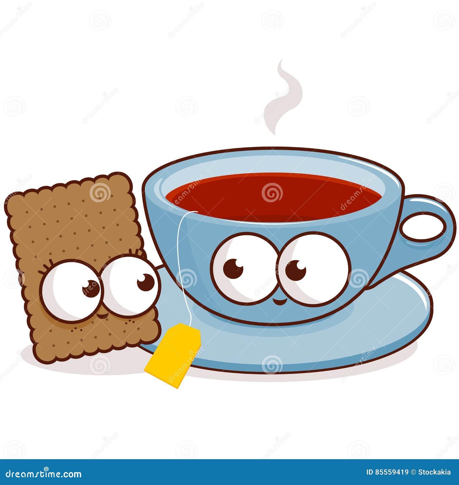 Tee- und Plätzchencharaktere