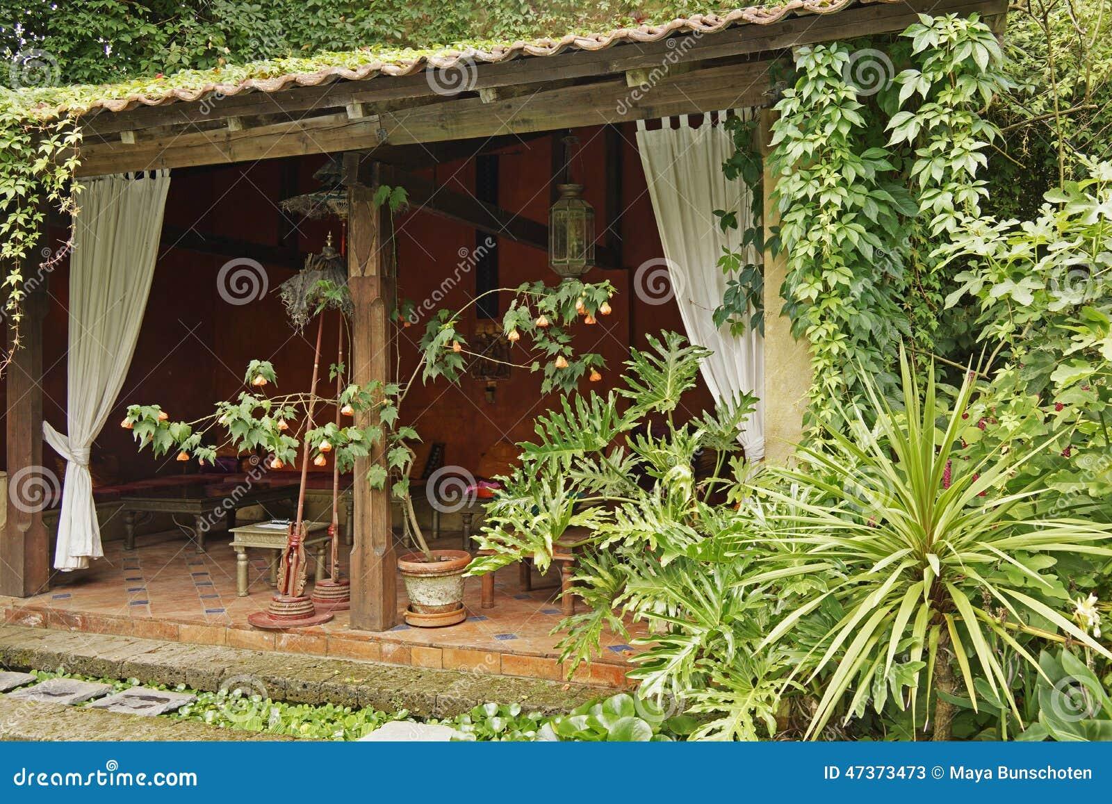 Teehaus Im Garten Stockbild Bild Von Außen Garten Getränk 47373473
