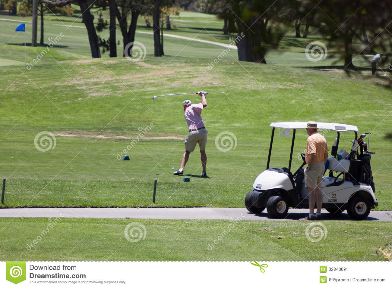 Teeing Off On The Golf Course Editorial Photo - Image of sport ... on golf buggy, golf hitting nets, golf cartoons, golf handicap, golf trolley, golf games, golf machine, golf accessories, golf tools, golf card, golf girls, golf players, golf words,