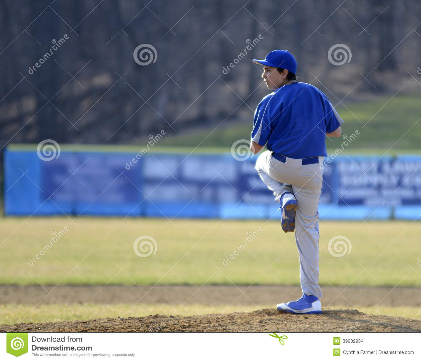 Teen baseball pitcher stock photo image 39982934