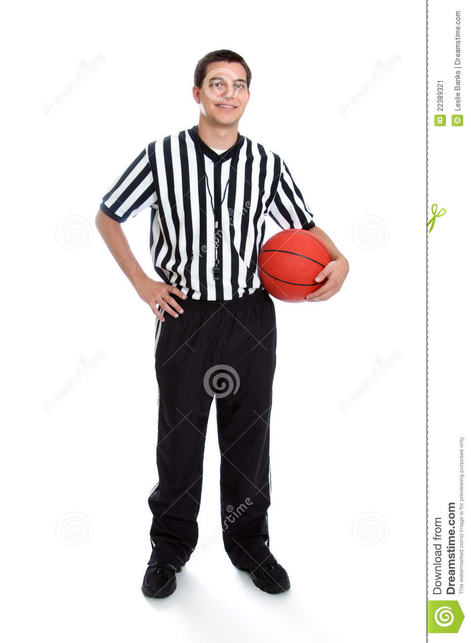 Teen Basketball Referee Stock Image - Image: 22389321