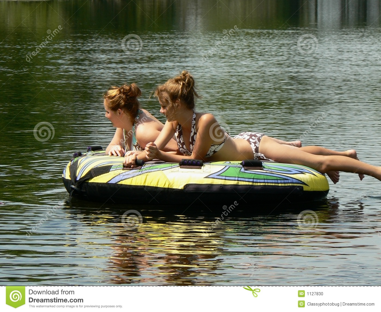 Teen Best Friends Reflecting On The River Stock Photo - Image: 1127830