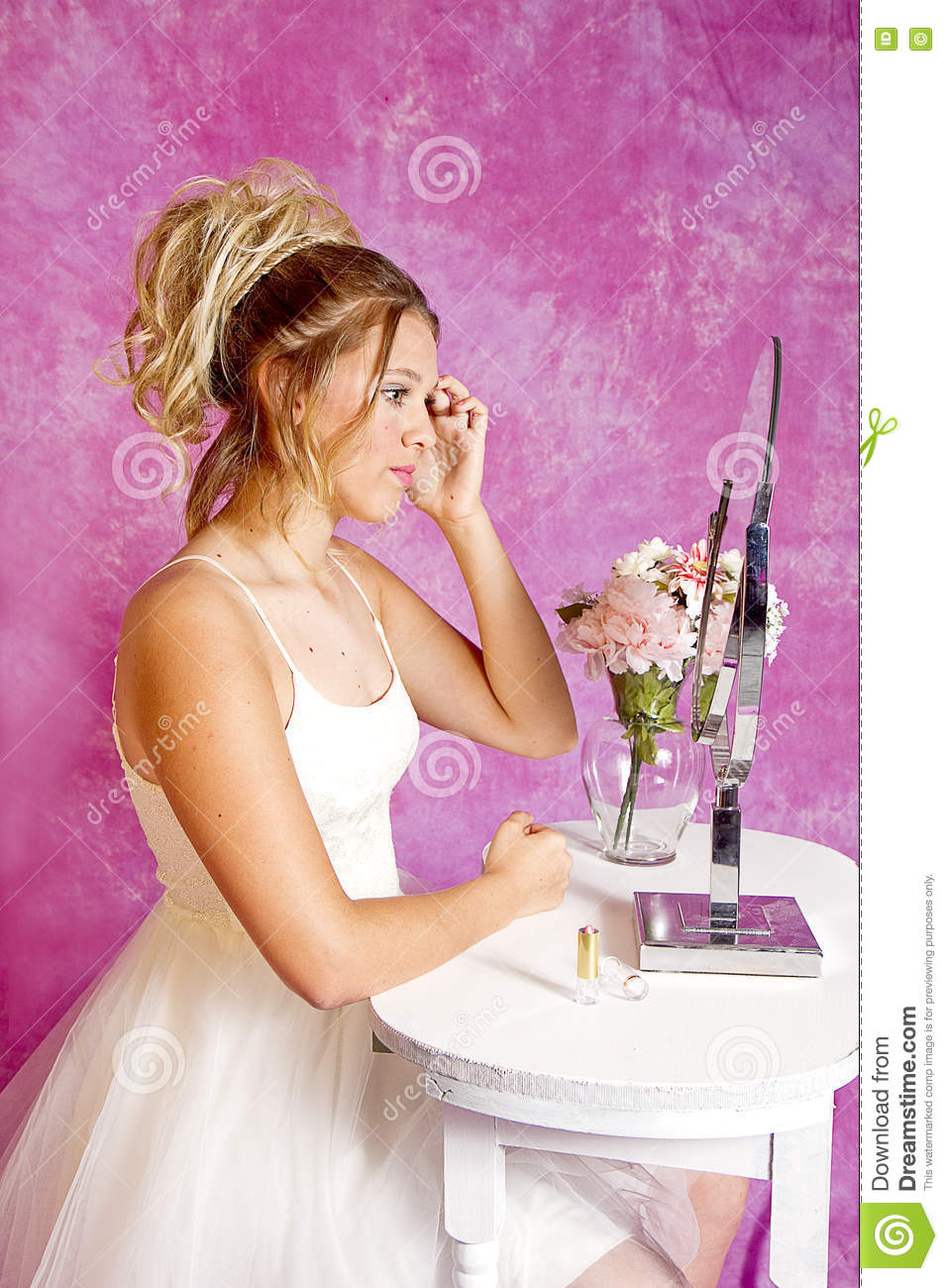 teen males putting on girls make up