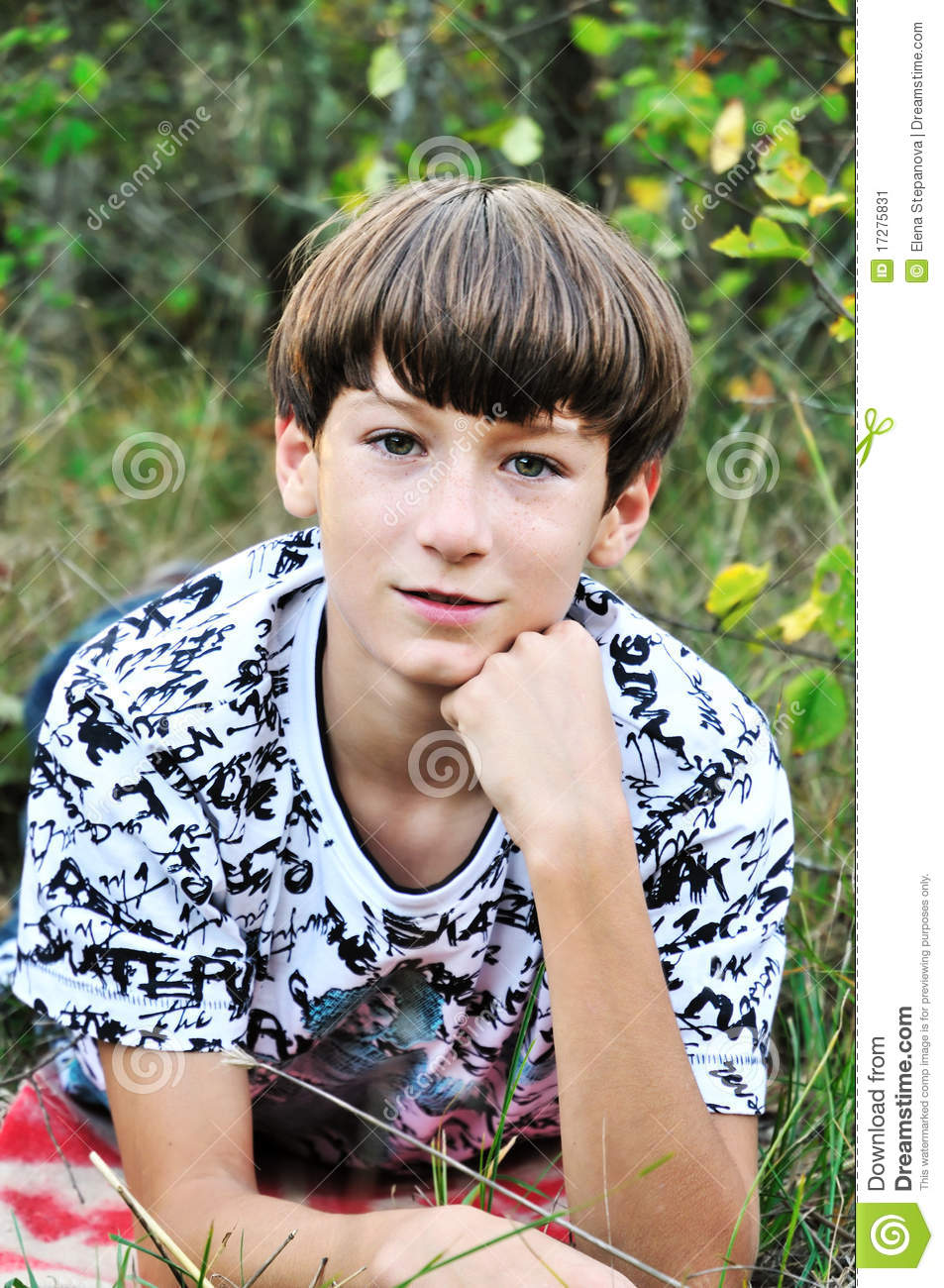 Teen Boy With Freckles Black Models Picture