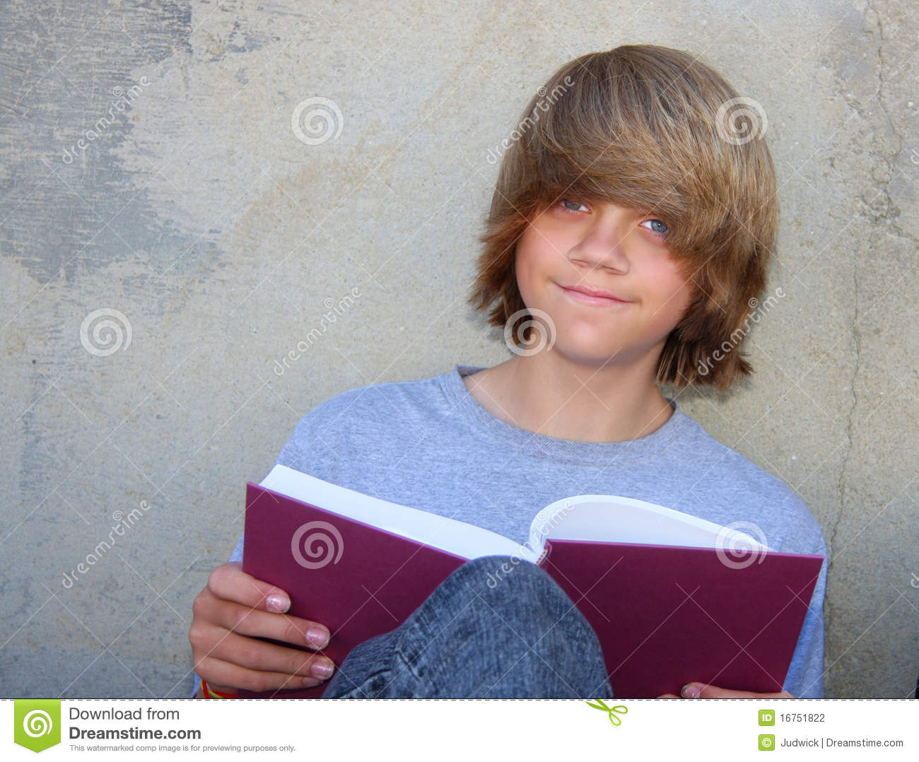 Teen Boy With Book Stock Photography Image 16751822
