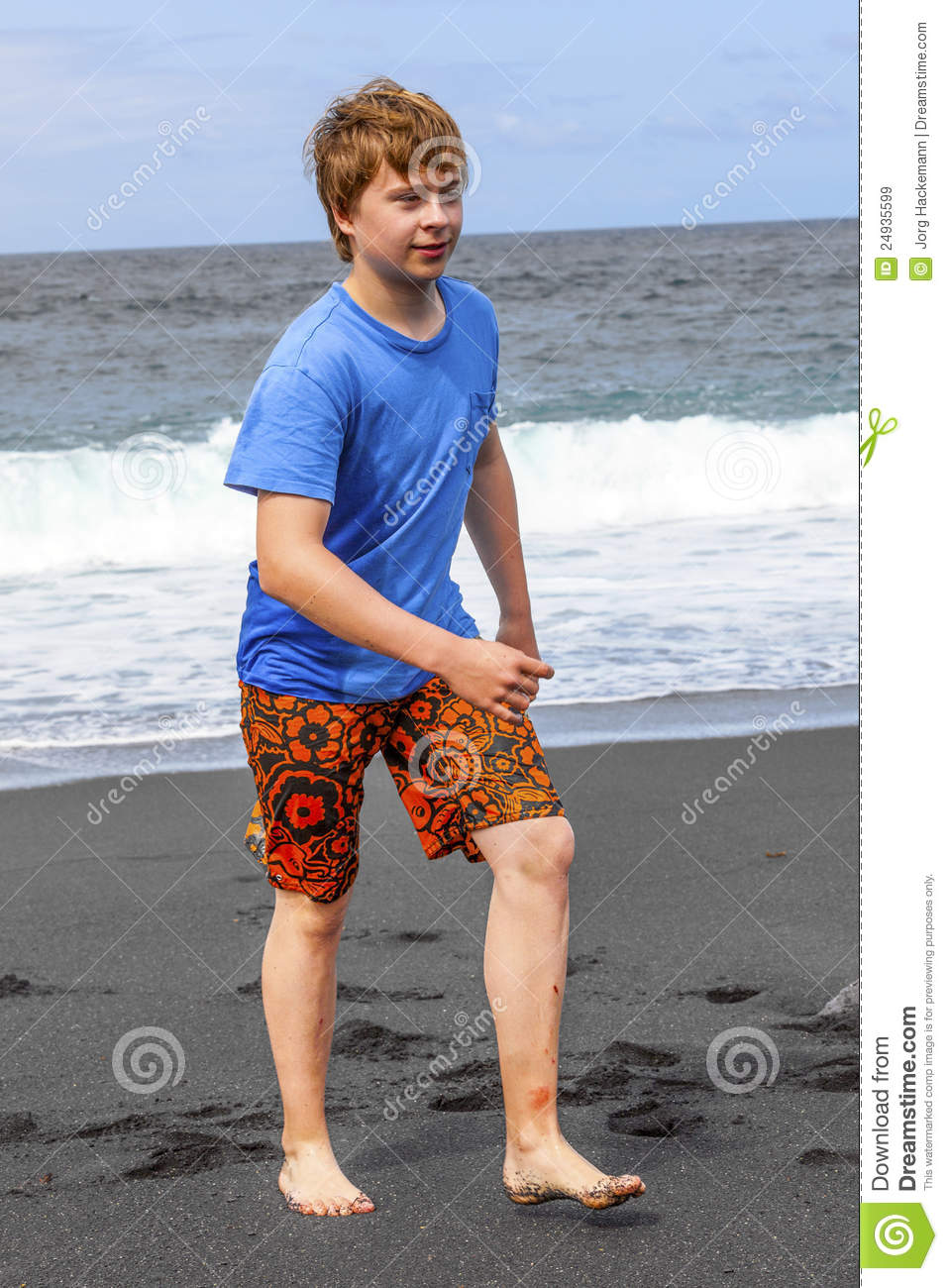naked teen male at beach