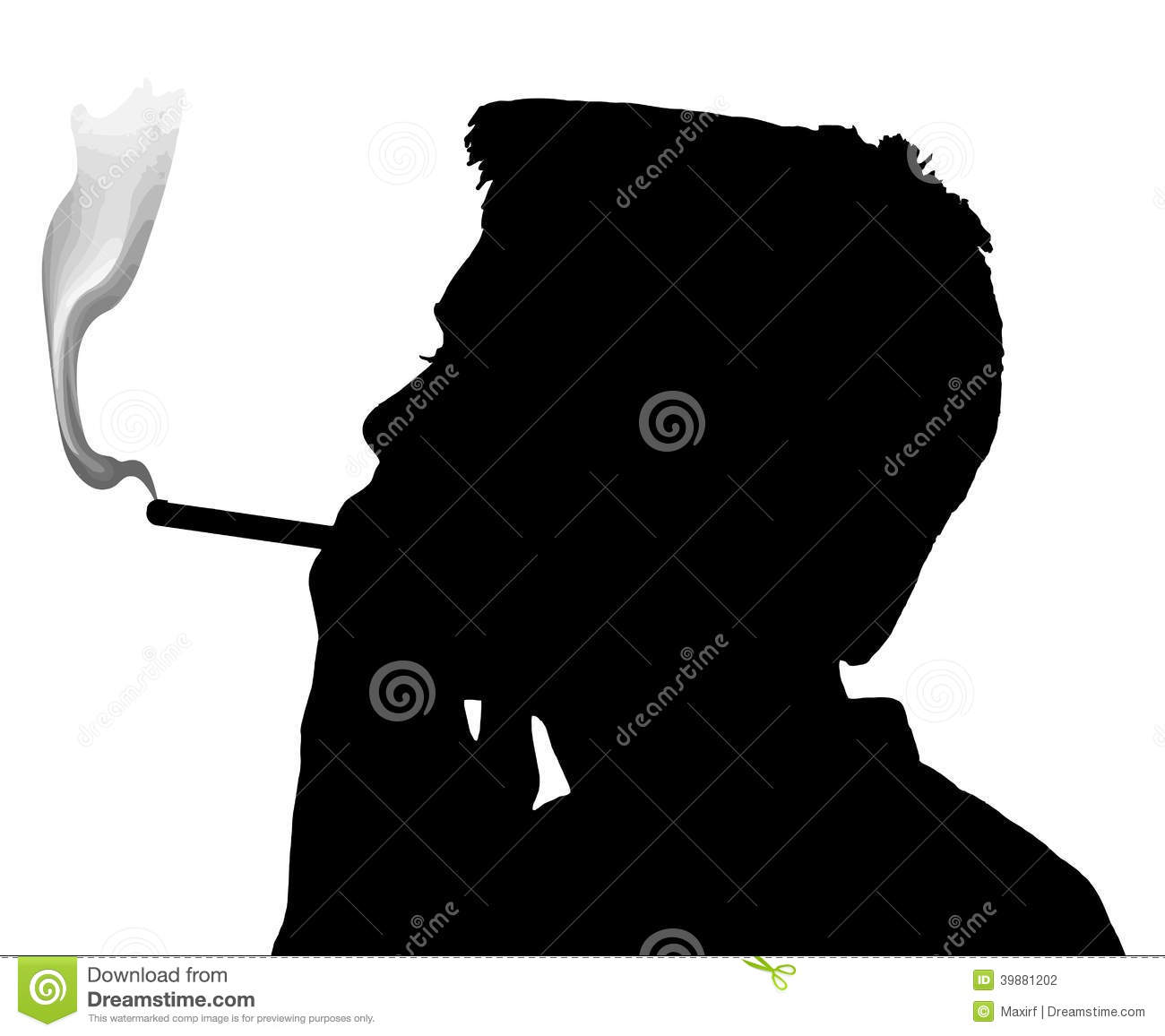 Teen Boy Silhouette Smoking Cigarette Stock Vector - Image: 39881202