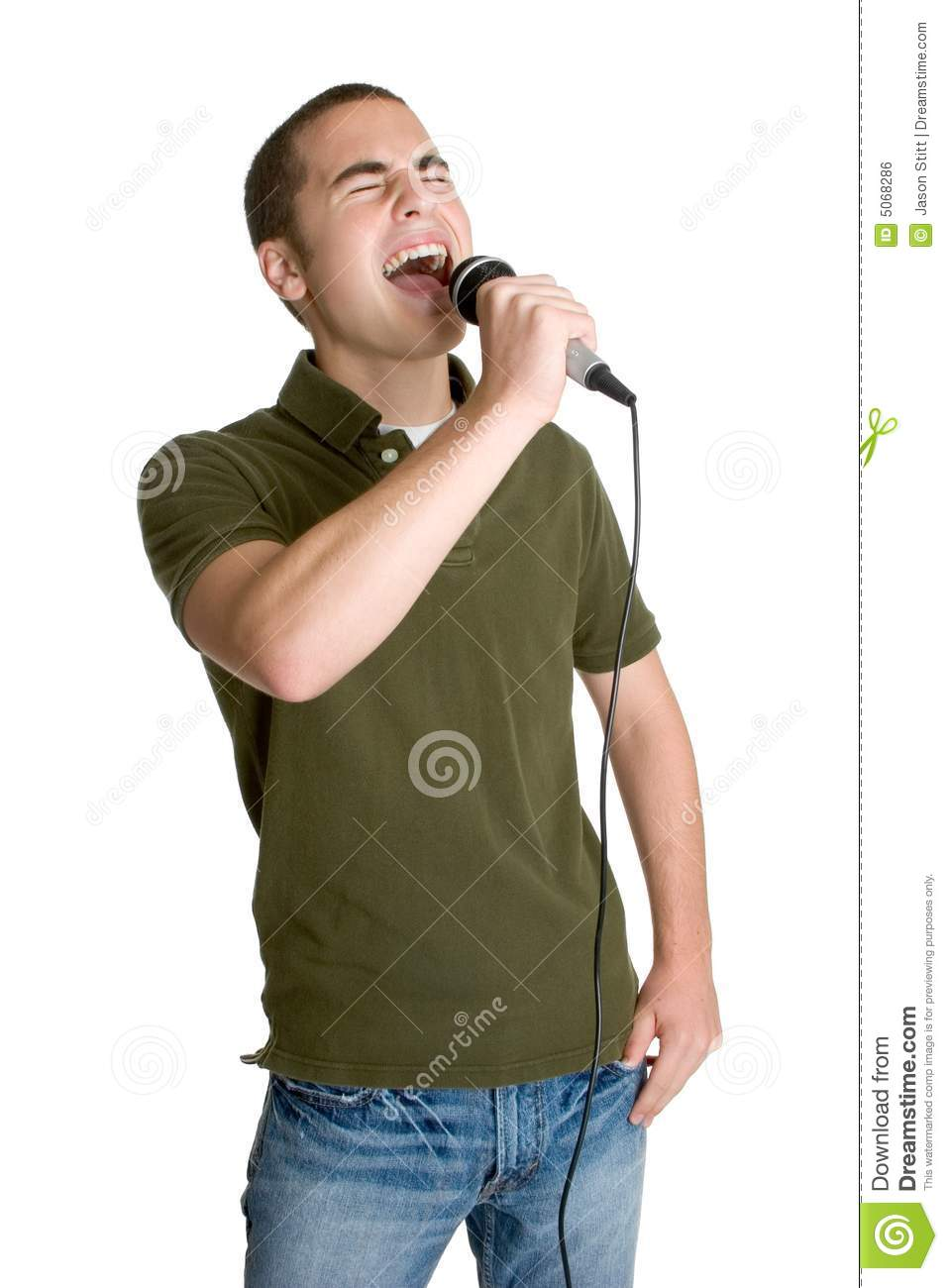 Teen Boy Singing Stock Photo. Image Of Person, Music