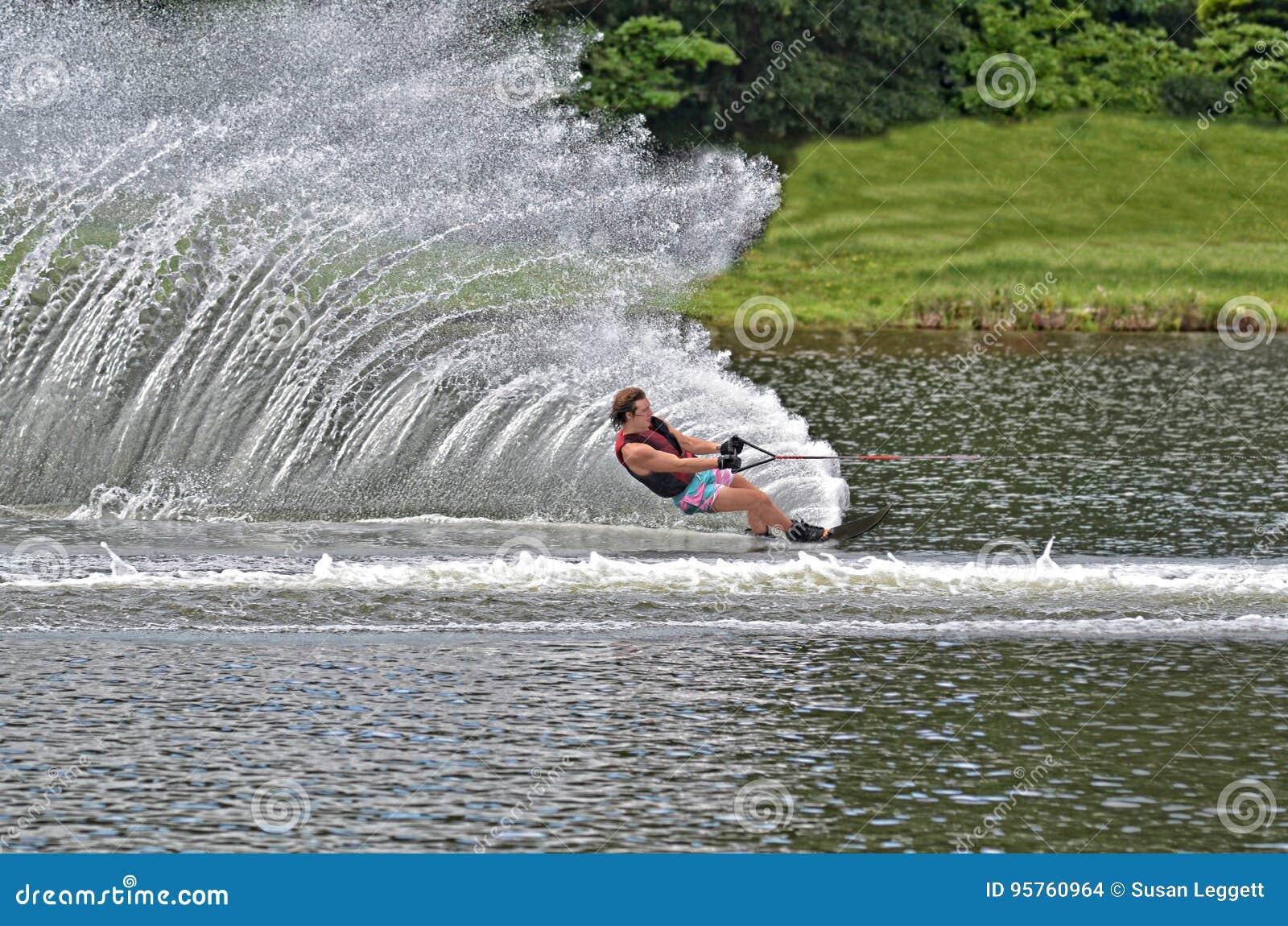 Teen Boy on Slalom Course