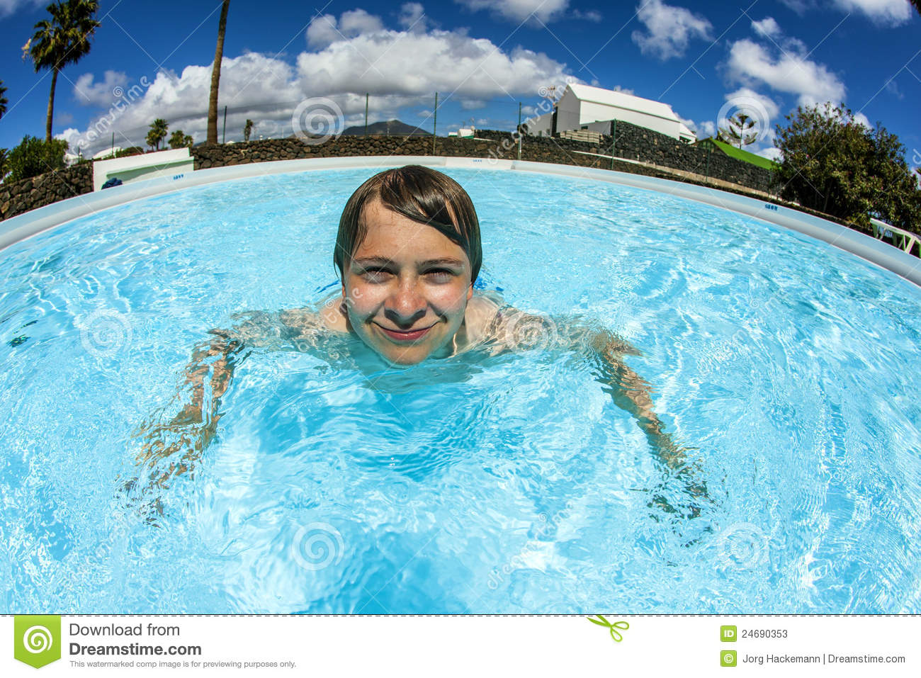Teen boy swimming in the pool stock photos image 24690353 for Cute pool pictures