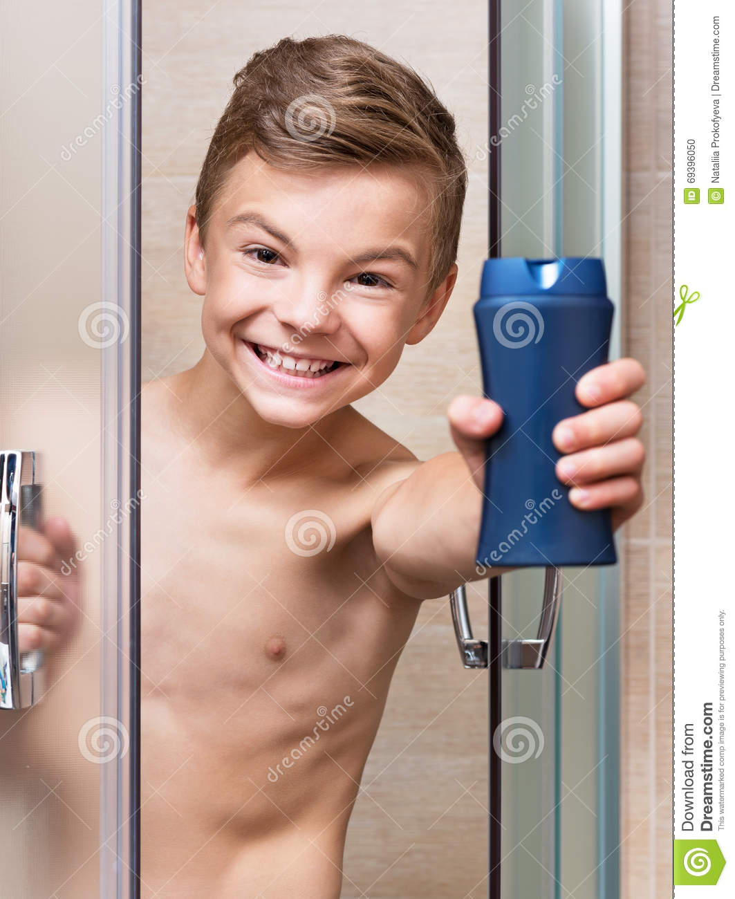teen shower Young