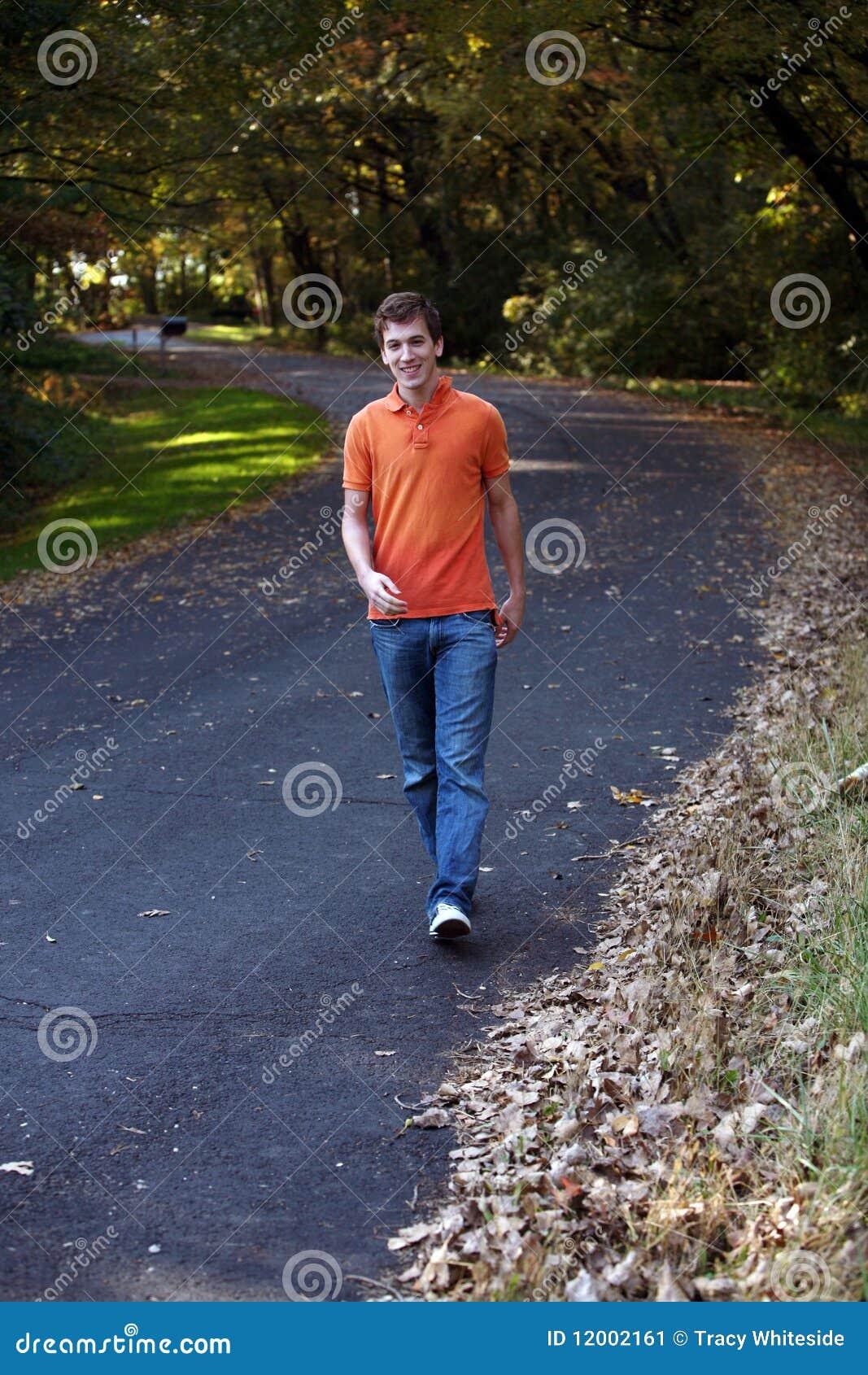 Teen Boy Walking Stock Image Image 12002161