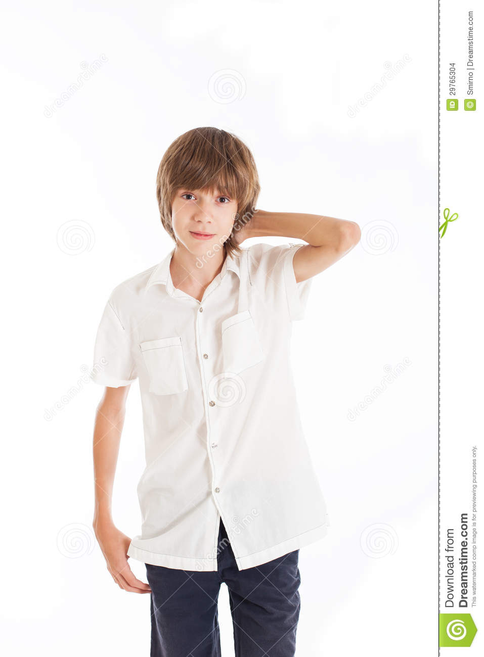 Portrait Of Teen Boy Stock Photo Image Of Emotions