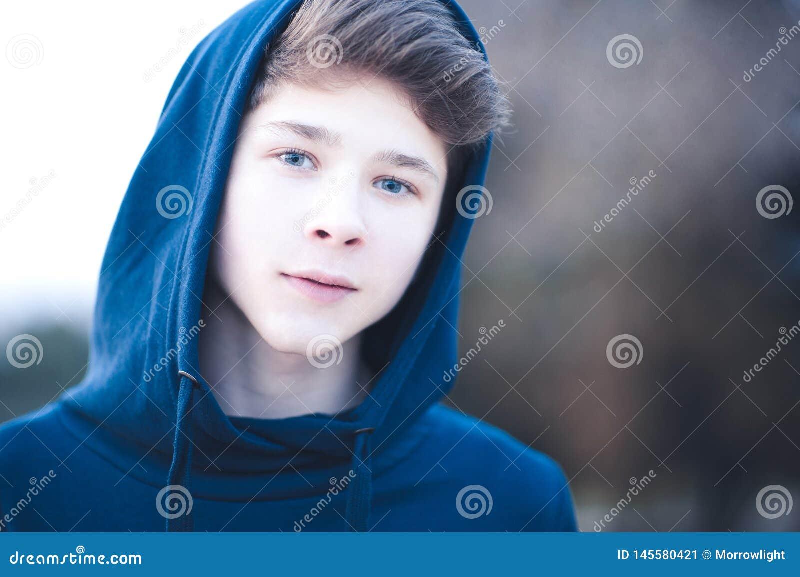 Teen Boy Outdoors Stock Image Image Of Hoodie Cool 145580421