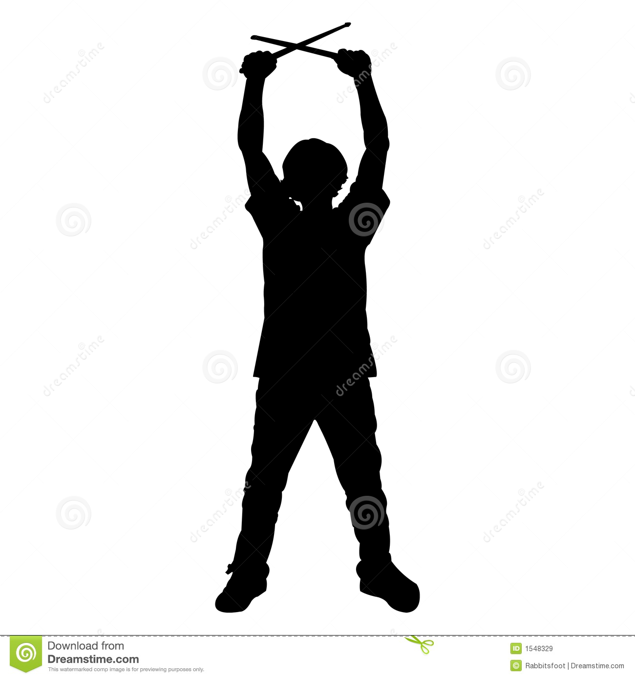 Teen Drummer - Silhouette Royalty Free Stock Images - Image: 1548329