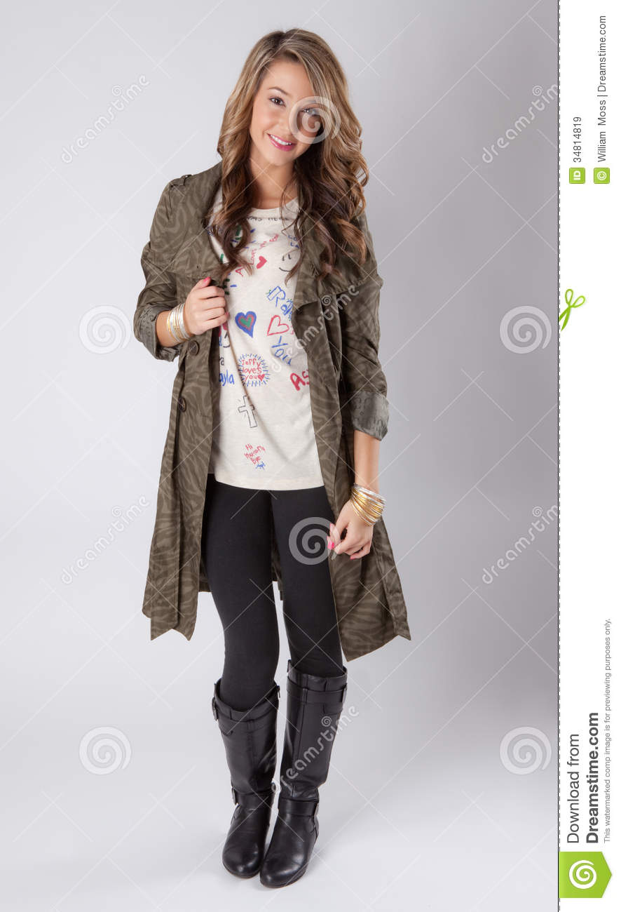 Teen Fashion Model Royalty Free Stock Images - Image: 34814819