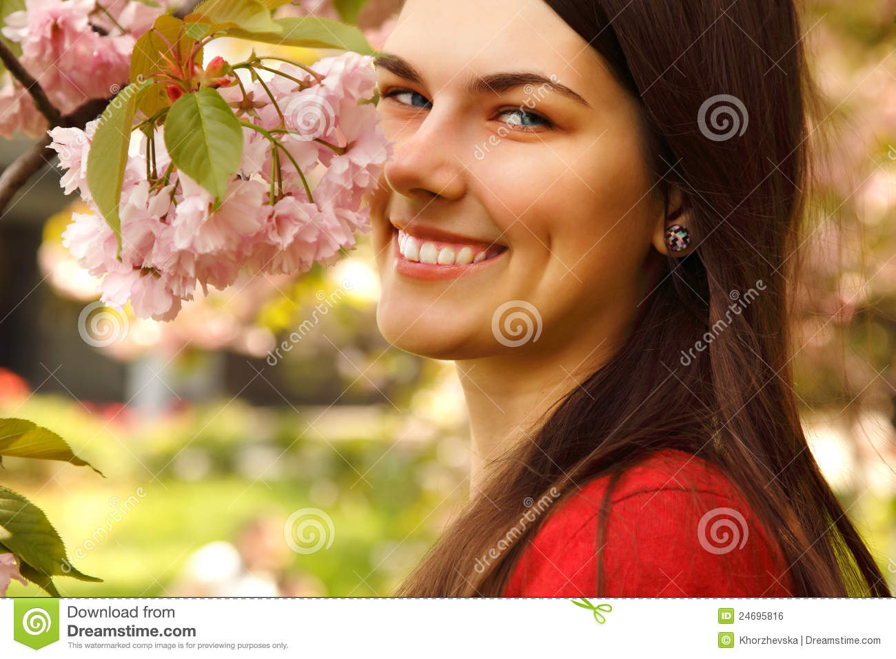 Teen girl charming happy smiling in garden royalty free stock image image 24695816 - Charming teenage girls image ...