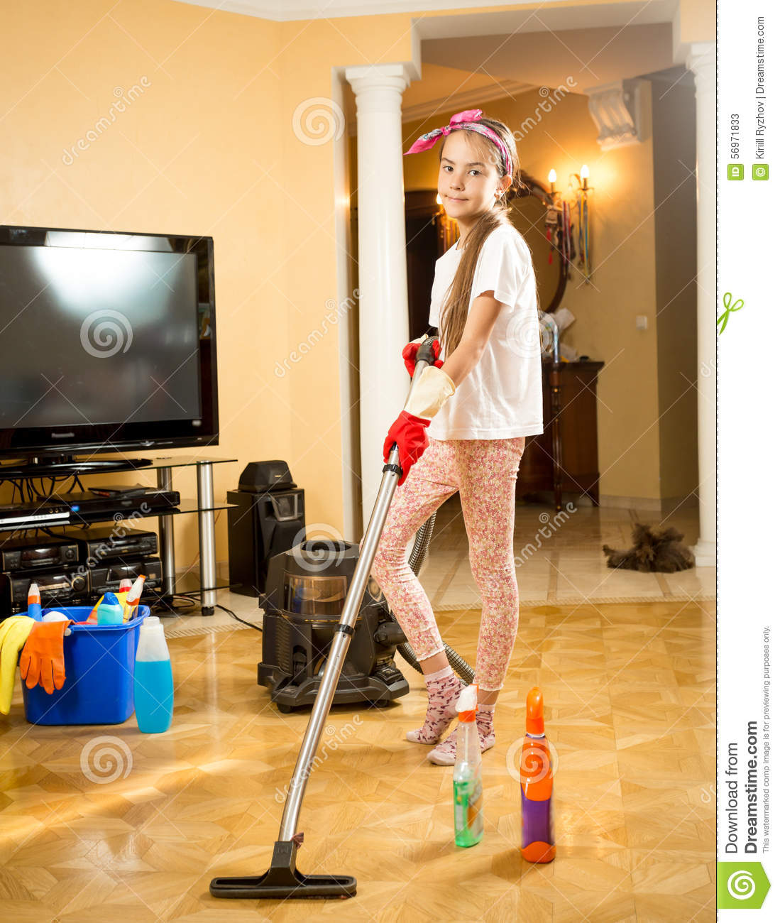 Teen maid cleans more than the bosses furniture 8