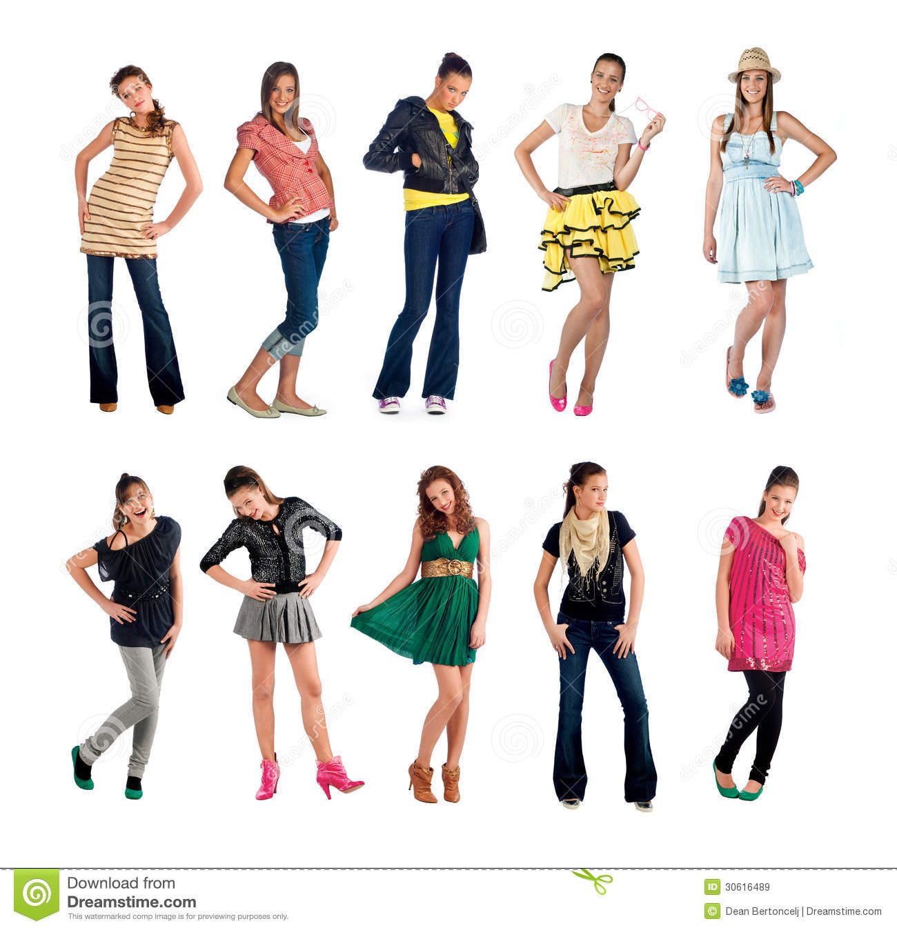 Teen Girl Collection Royalty Free Stock Images Image 30616489