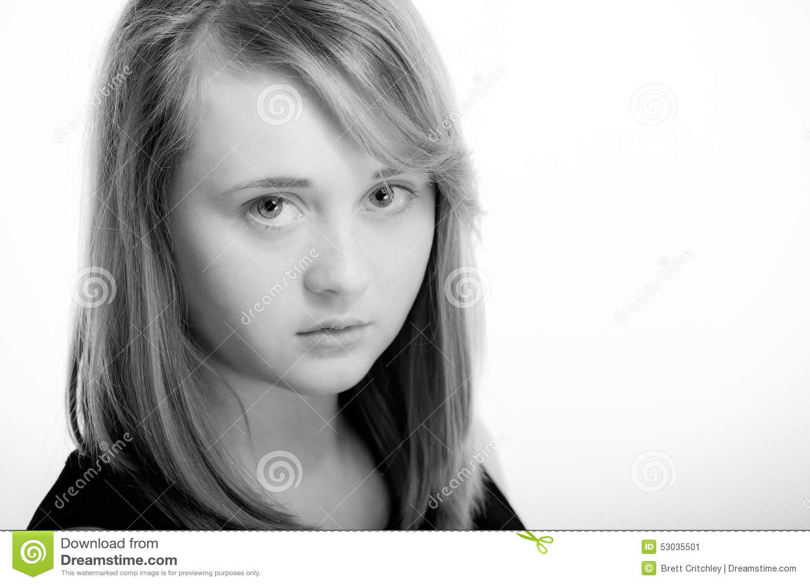 Teen girl with copyspace