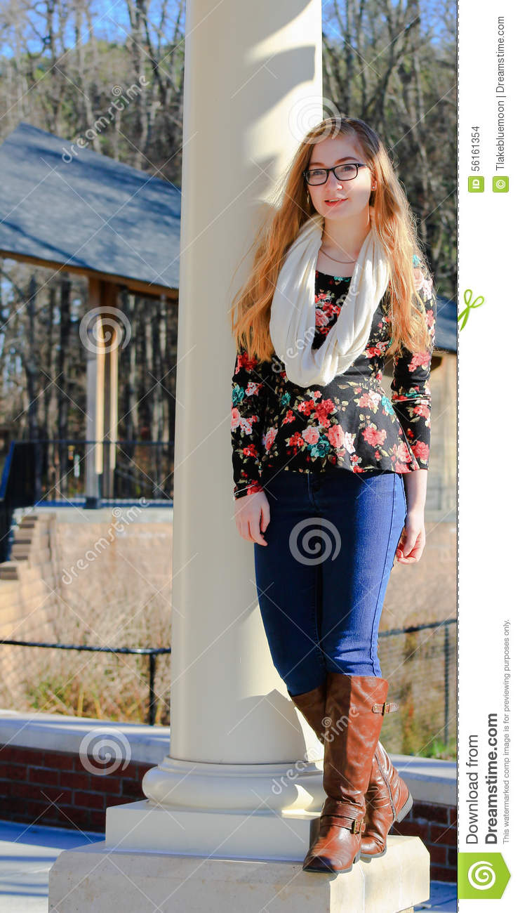 Teen Girl-fall Fashion Stock Photo. Image Of Clothing