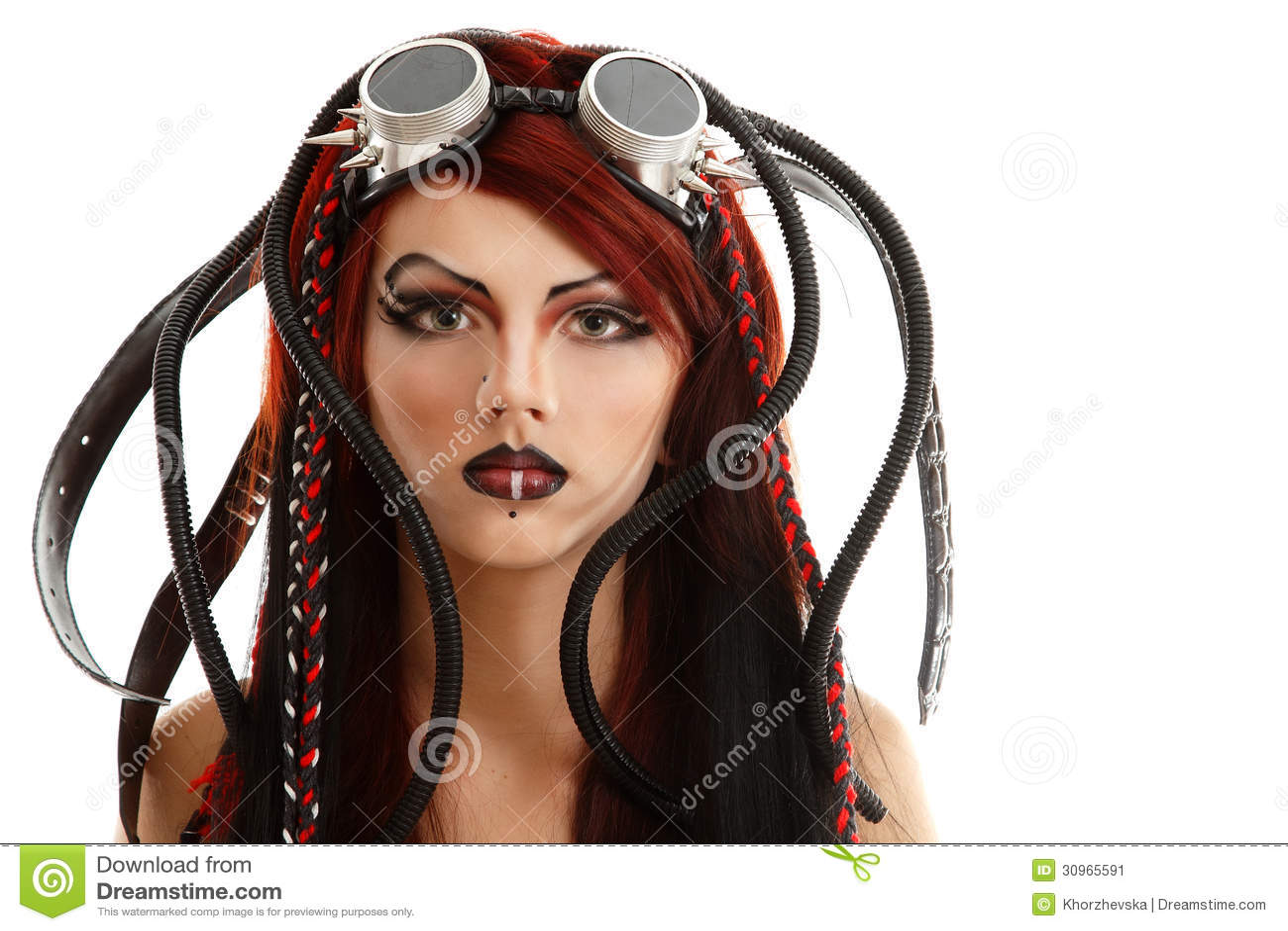 Teen girl hard depression informal ciber punk lonely isolated on - teen-girl-hard-depression-informal-ciber-punk-lonely-isolated-blank-expressions-white-background-30965591