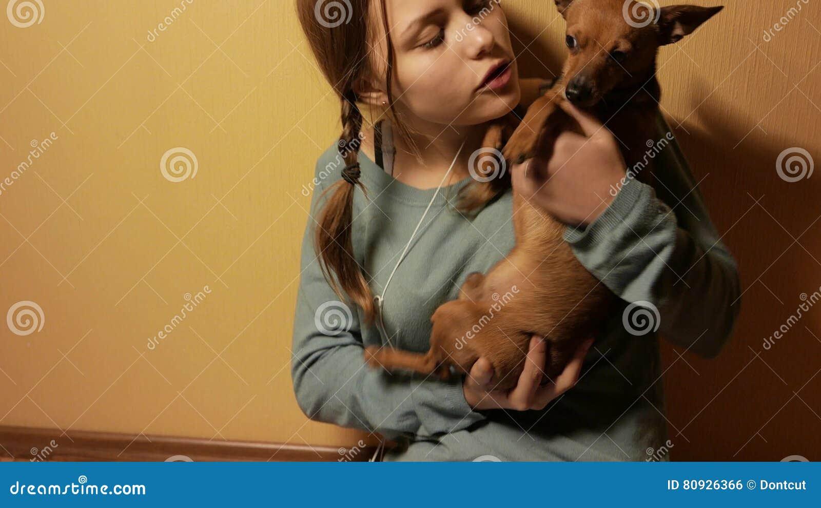 Teen girl doggy
