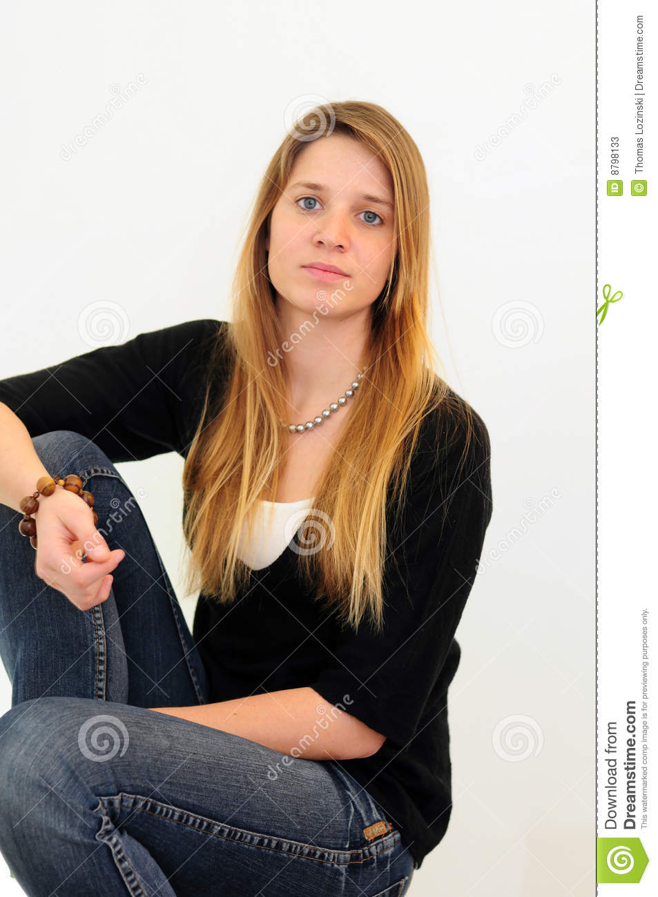 Teen Girl Jeans Stock Photos