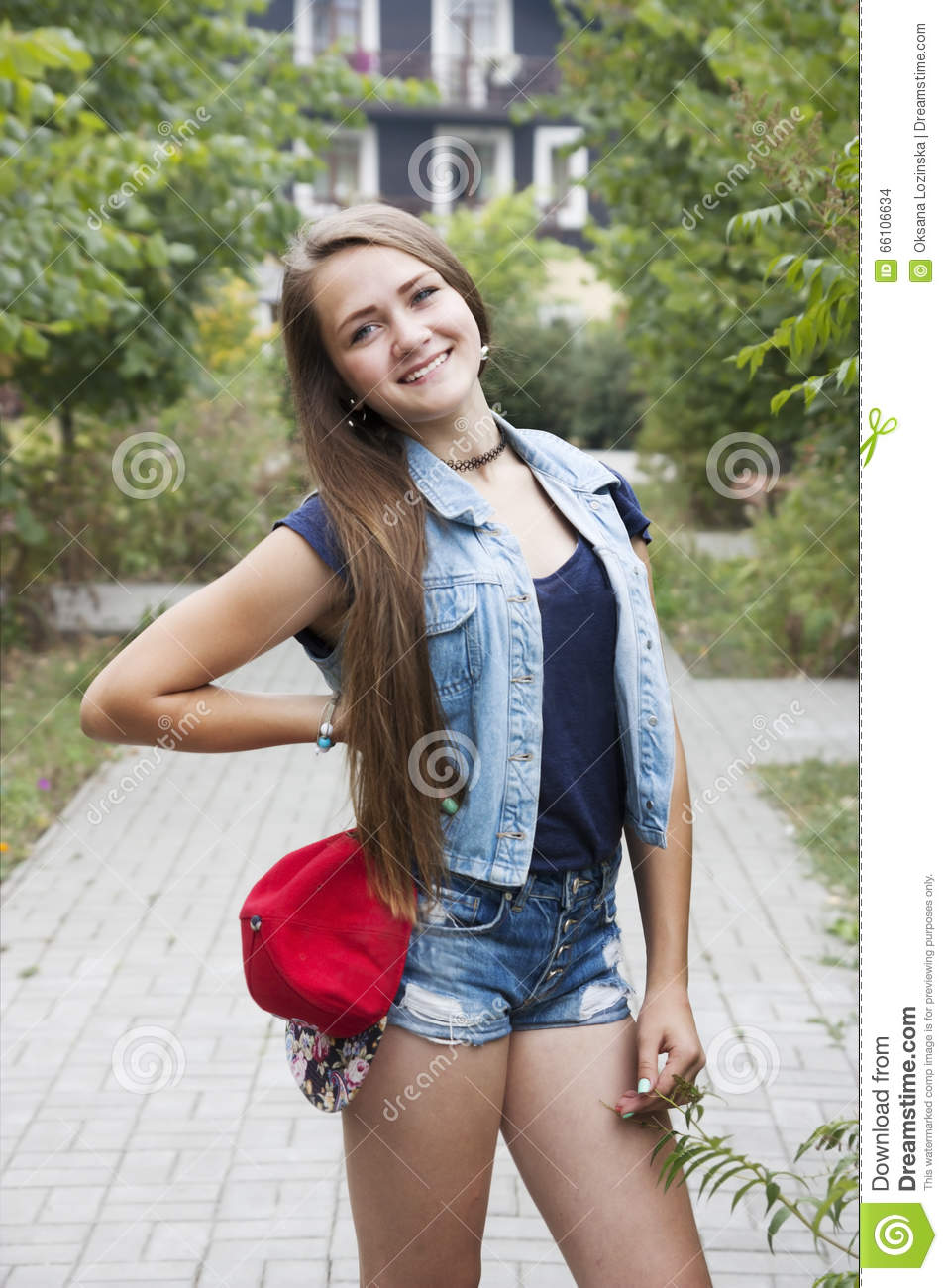 Teen Girl In Jeans Stock Photo. Image Of Caucasian, Model
