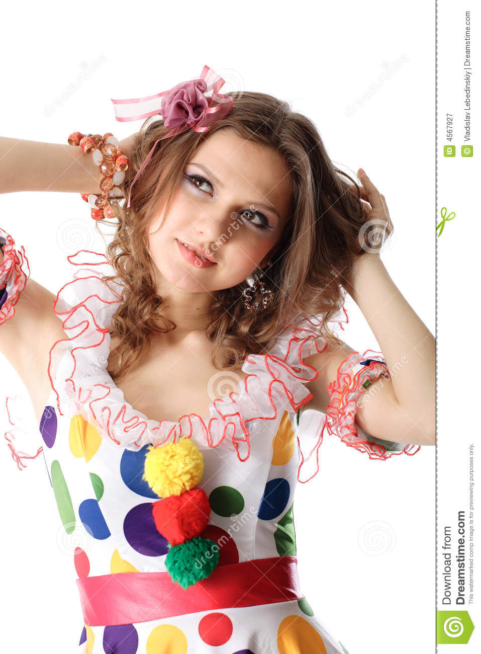 Teen Girl In Party Dress Stock Image Image Of Lightheartedly - 4567927-4609