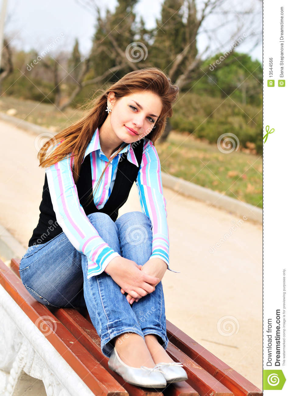 Teen Girl Resting In The Park Royalty Free Stock Image - Image ...