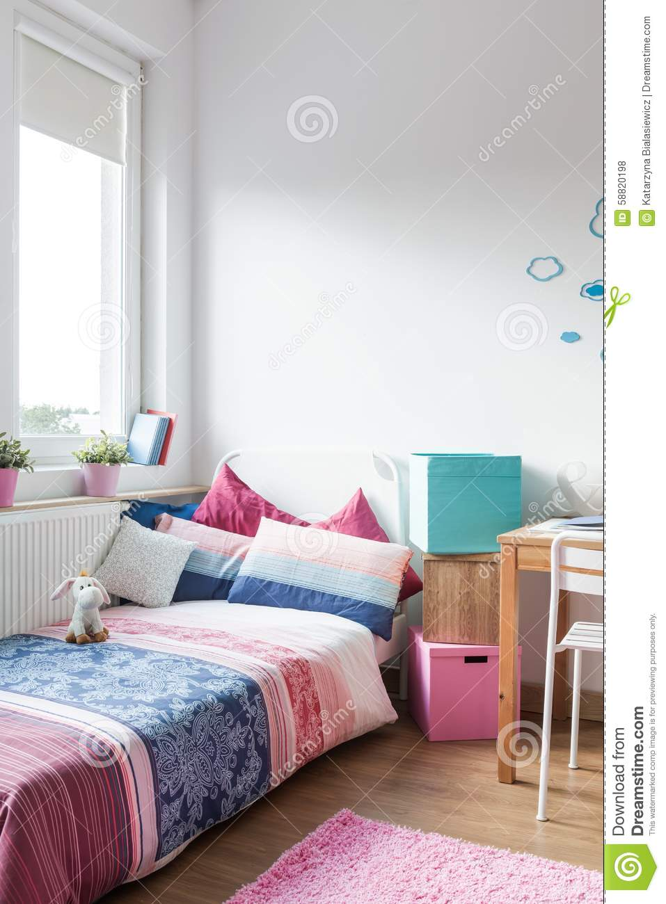 Teen Girl Room Stock Photo Image 58820198