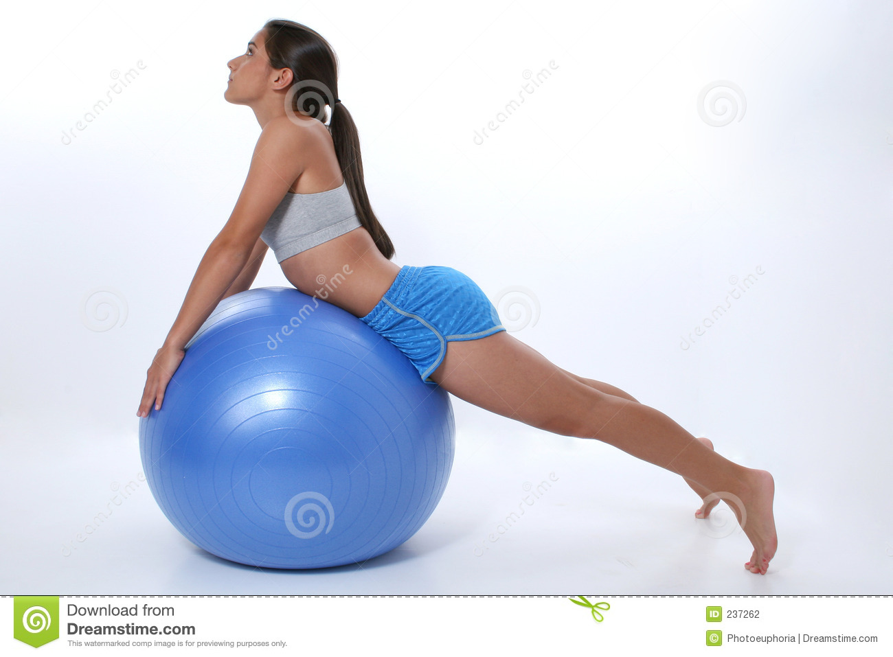 Teen on yoga ball