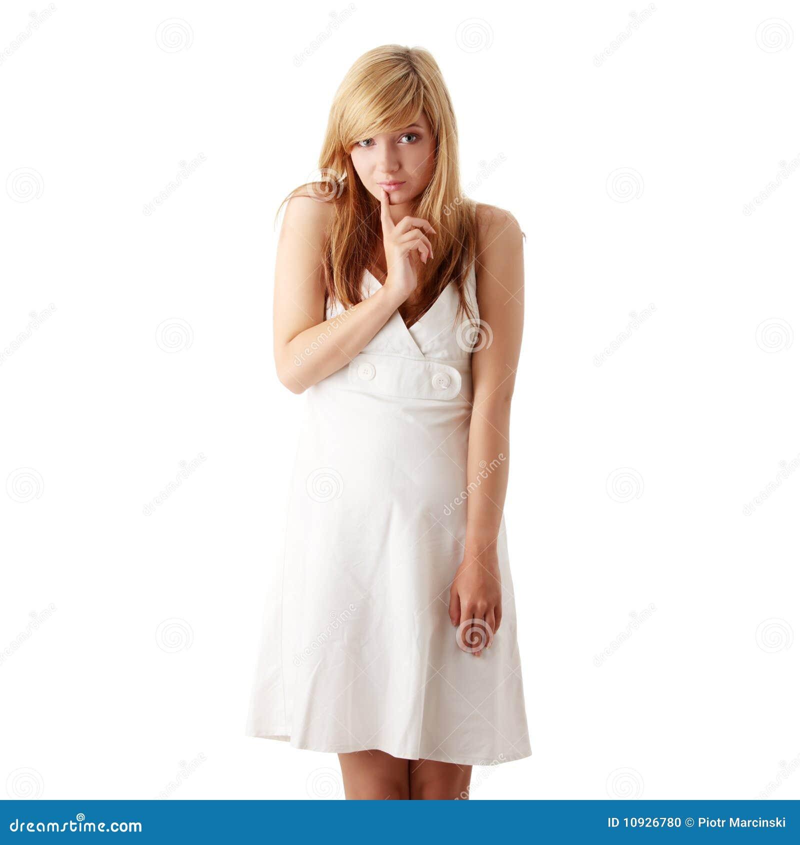 Are Teen model white dress
