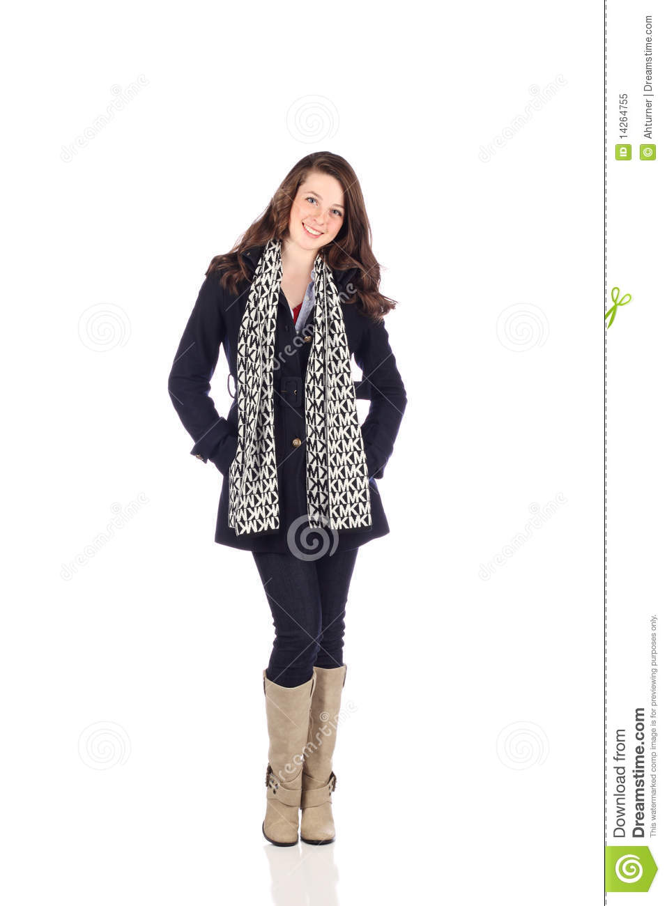 Teen With Good Fashion Sense Royalty Free Stock Photo
