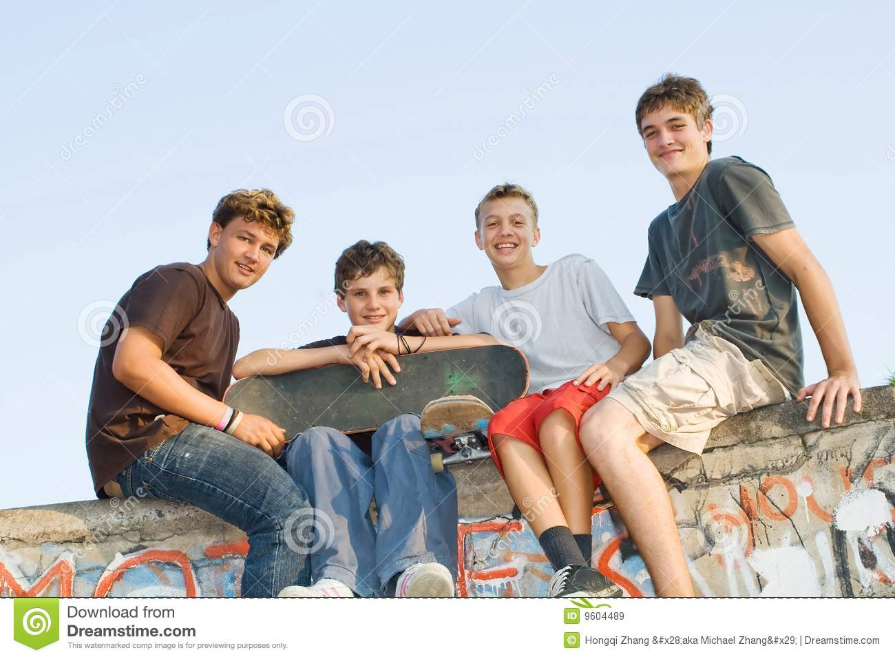 Royalty free teens outdoors