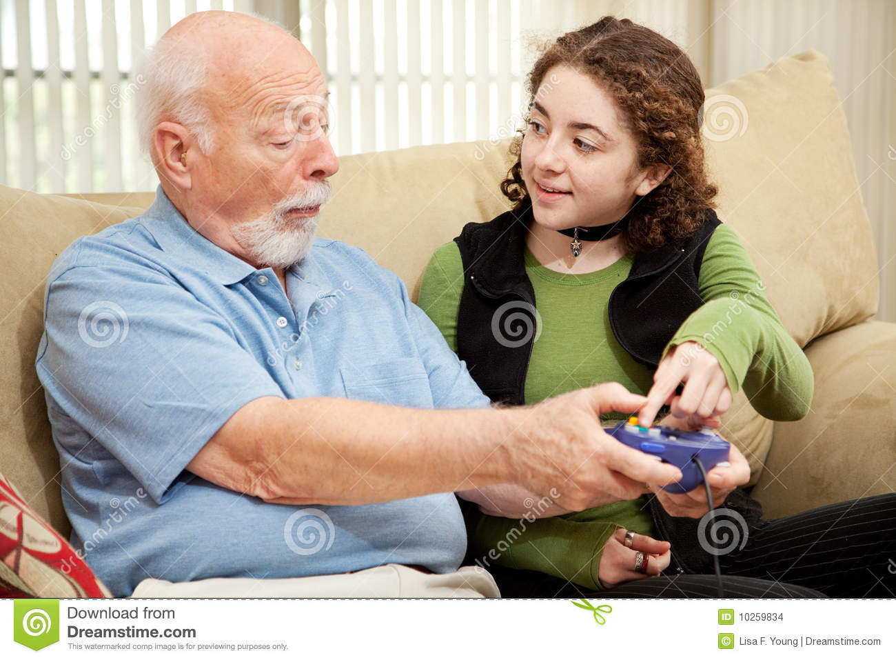 grandpa and teen