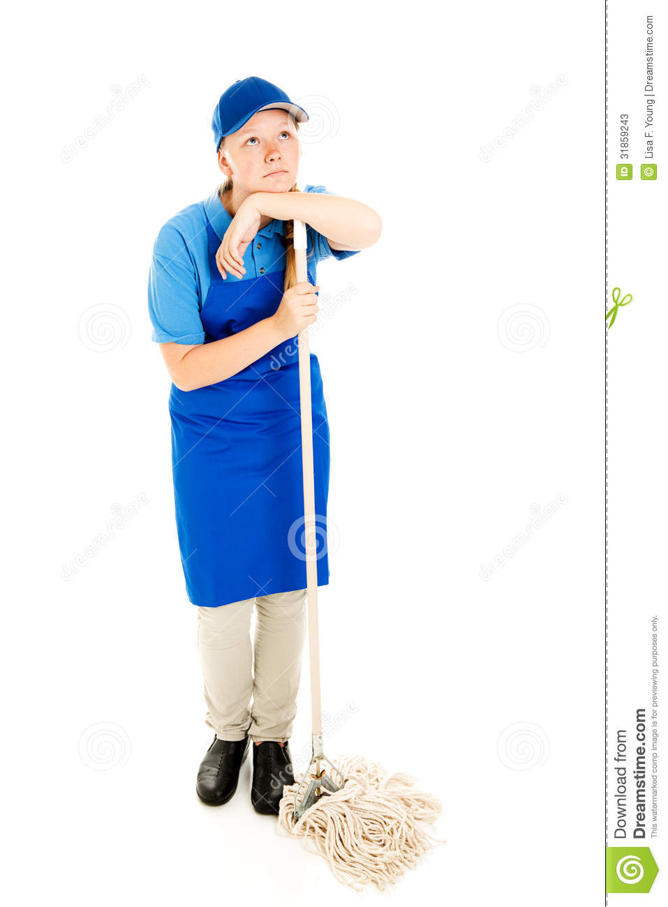 teen jobs mopping up stock photos image  teen jobs mopping up