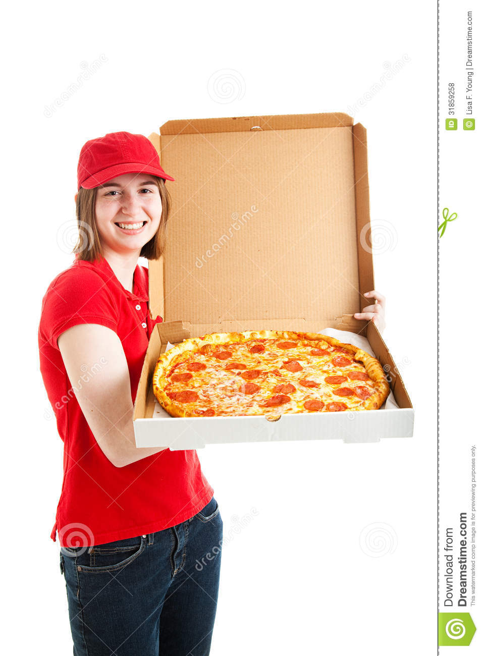 Teen Jobs - Pizza Delivery Royalty Free Stock Photos - Image: 31859258