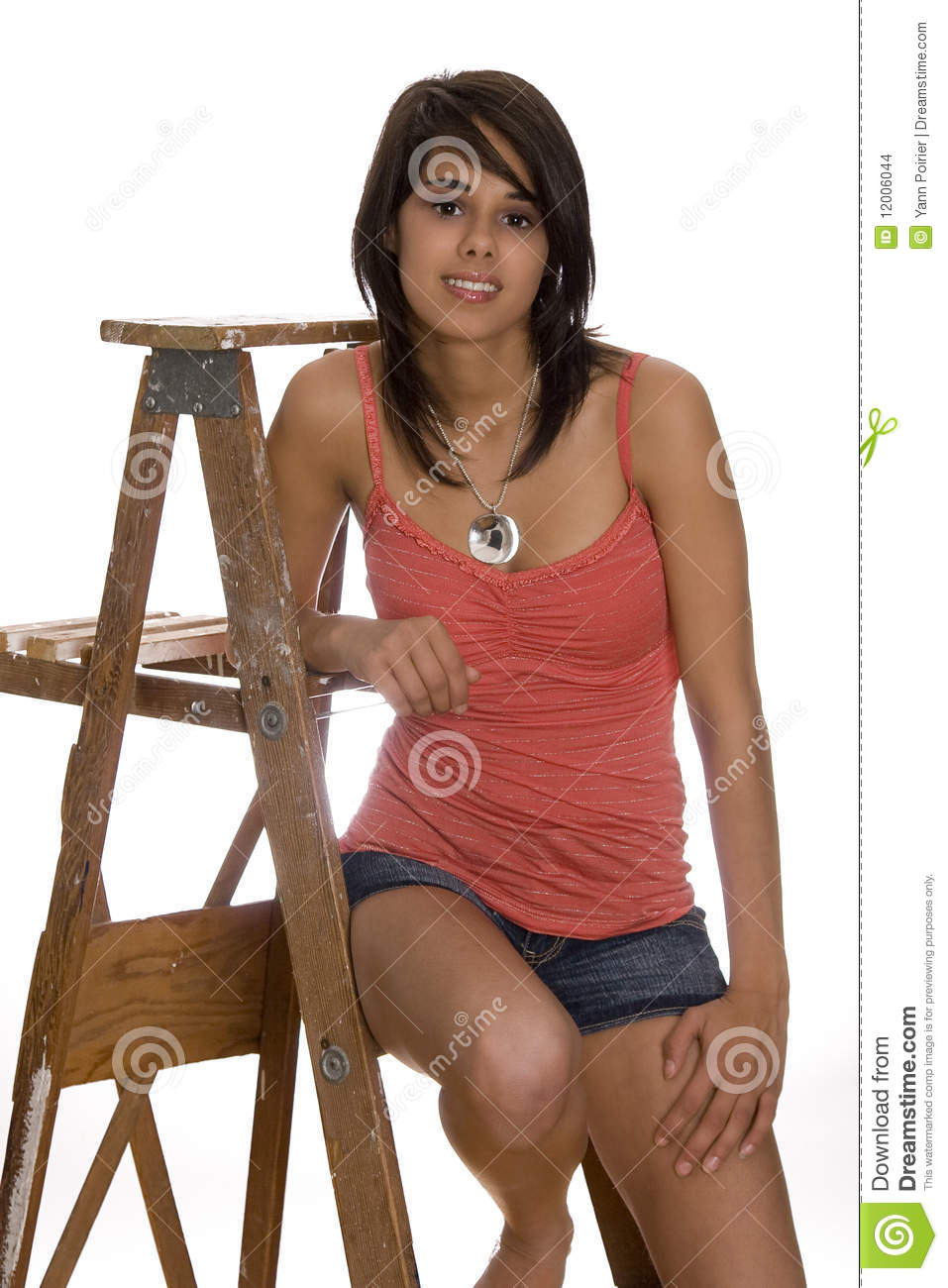 Teen On Ladder Stock Images Image 12006044