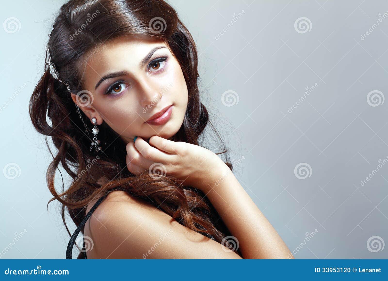 Fashion Beauty Hair: Teen Model Girl Stock Photo