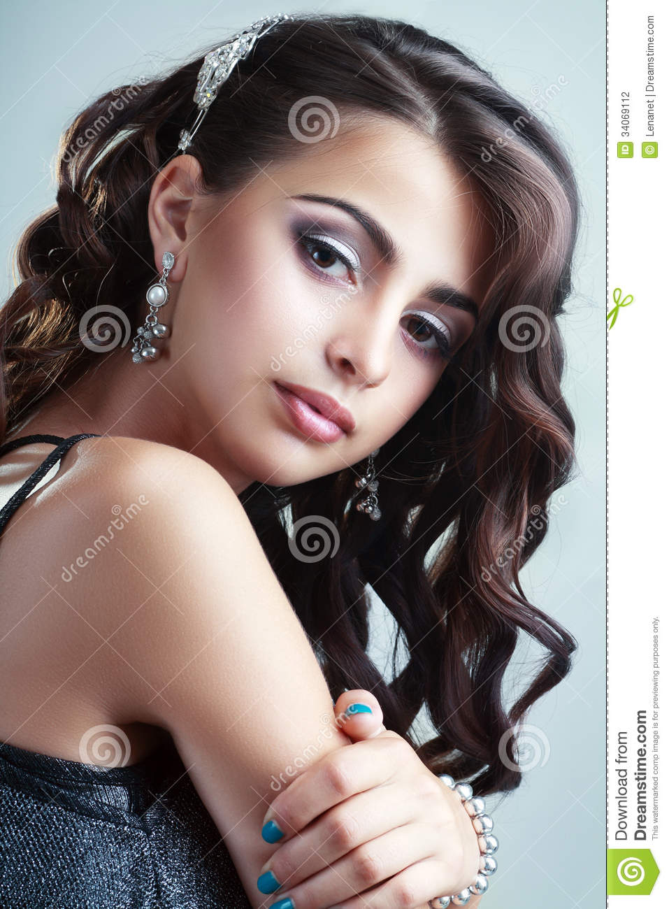 beautiful style hair teen model stock photo image of amazing curly 3797