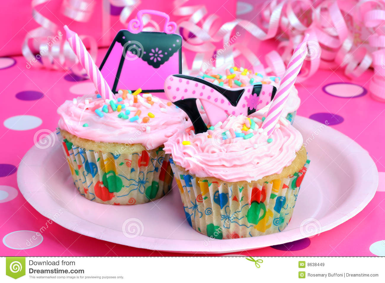teen party cupcakes stock image image of dotted festive