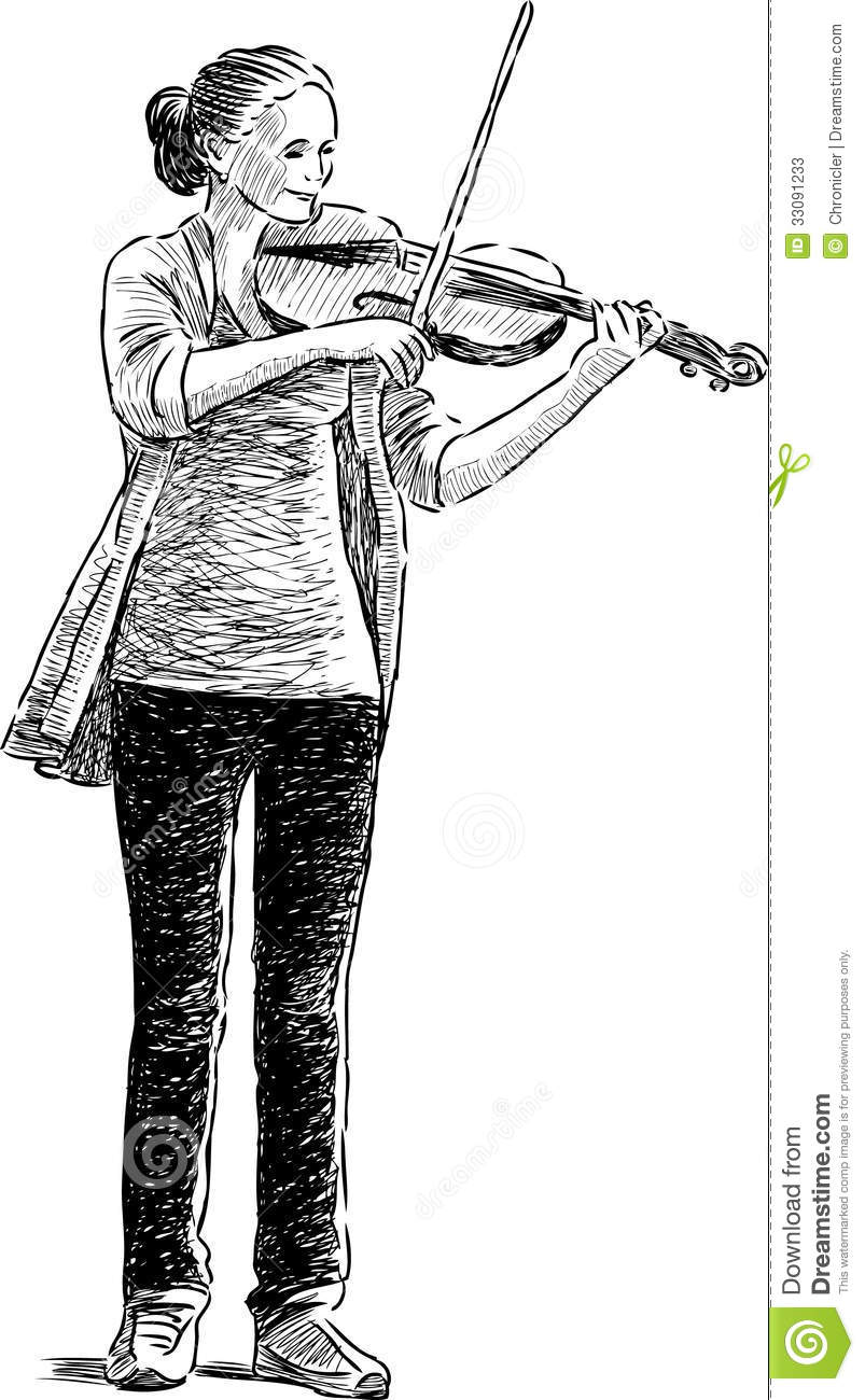 Teen Playing A Fiddle Stock Photos - Image: 33091233