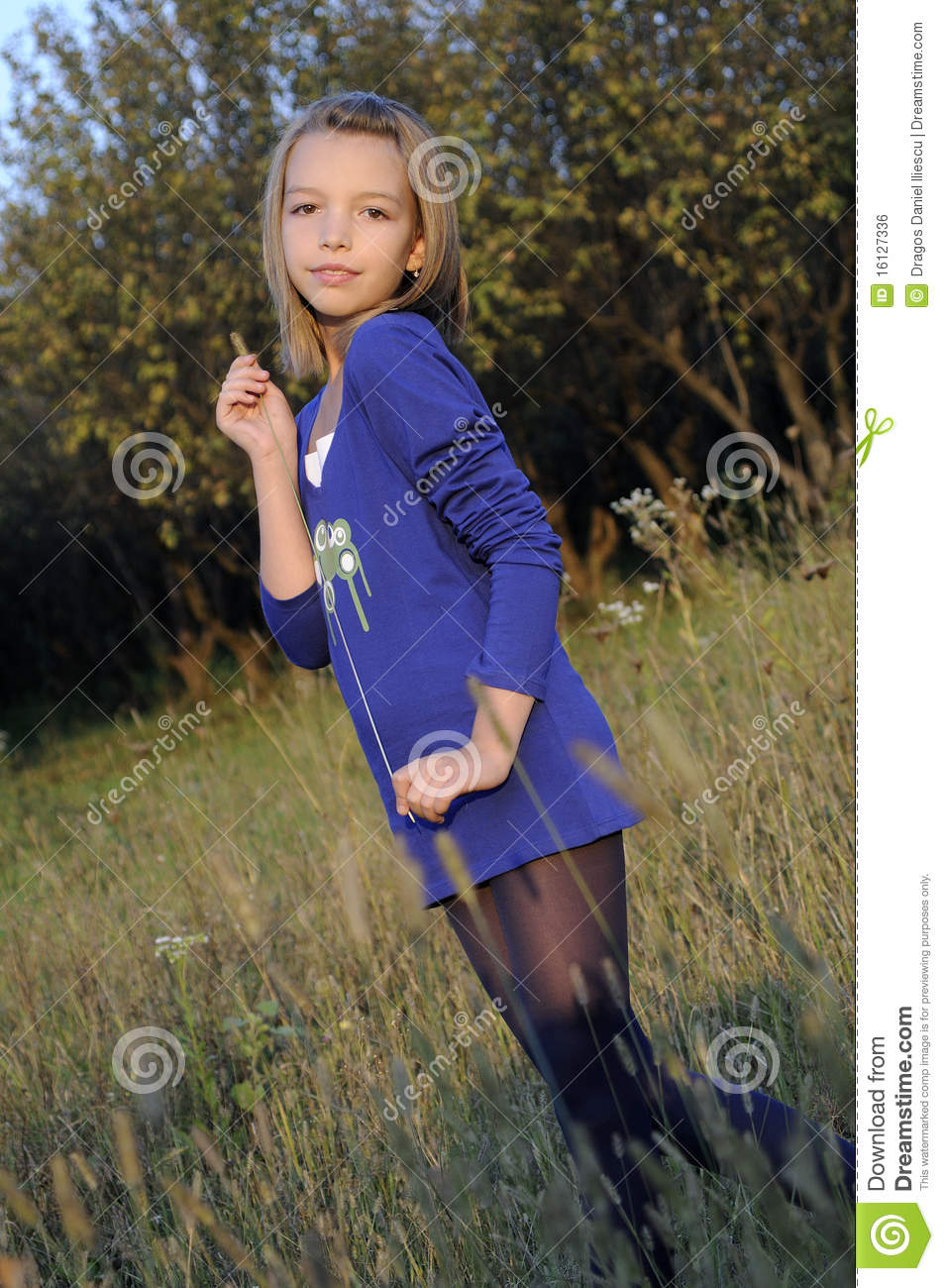 Teen Playing In Nature Stock Photo. Image Of Vertical