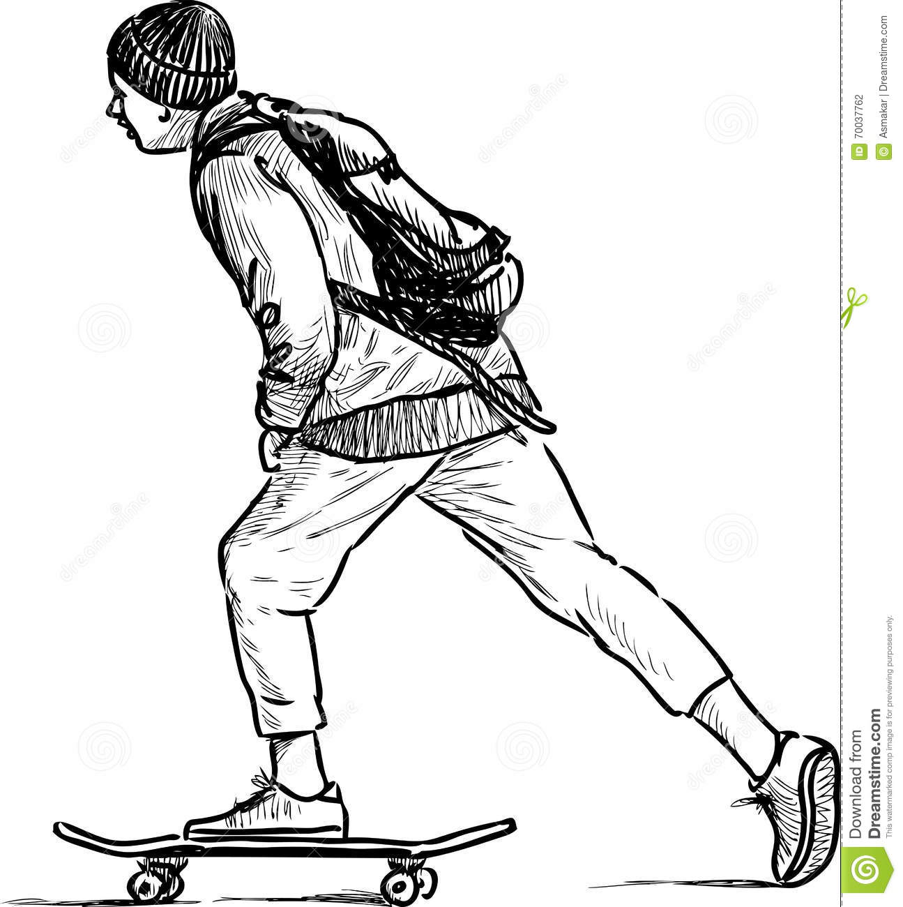 teen rides on a skateboard stock vector illustration of ice skate clip art pictures ice skate clip art image
