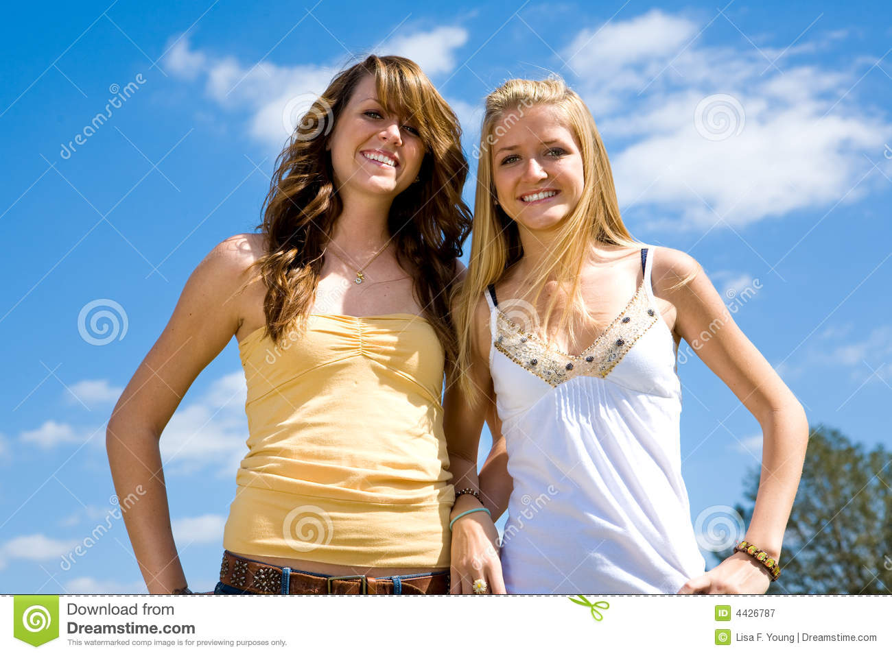 teen sisters outdoors stock image image of sister long